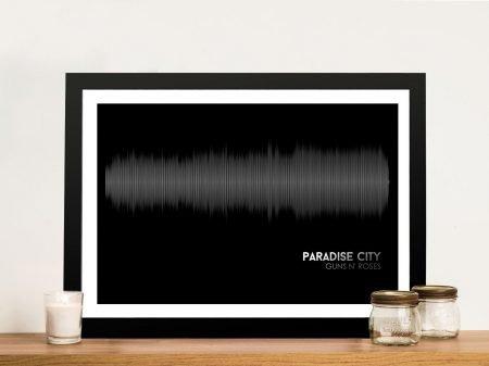 Buy Paradise City Soundwave Artwork