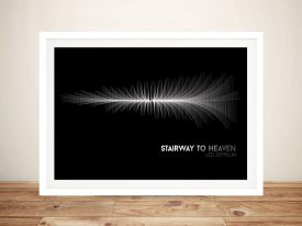 Led Zeppelin Stairway to Heaven Waveform Wall Art