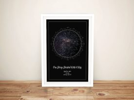 Personalised Star Map Framed Wall Art