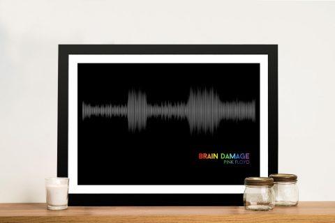 Pink Floyd Brain Damage Soundwave Art Prints