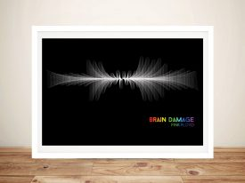 Pink Floyd Brain Damage Waveform Wall Art