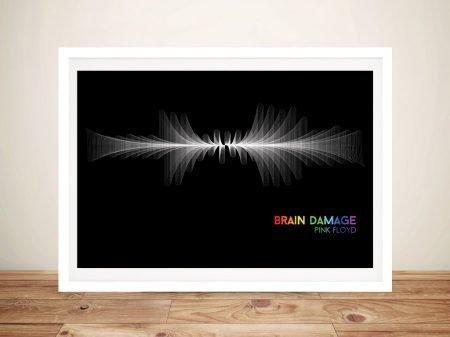 Pink Floyd Brain Damage Waveform Wall Art