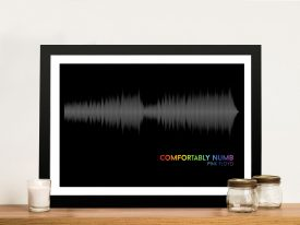 Pink Floyd Comfortably Numb Soundwave Artwork