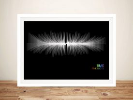 Pink Floyd Time Soundwave Art Prints