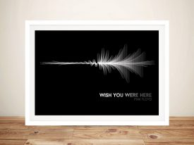 Pink Floyd Waveform Framed Wall Art