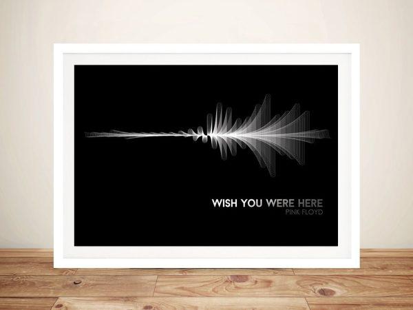 Pink Floyd Waveform Framed Wall Art