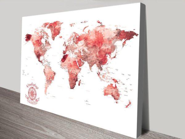 Red Watercolour Splash canvas print
