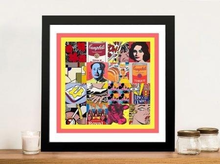 Buy Retro Pop Art 3 Framed Canvas Artwork