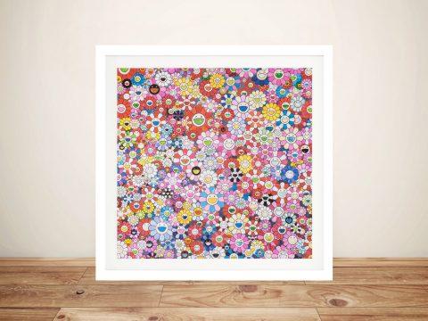 Buy Shangri-La Pink Framed Contemporary Art