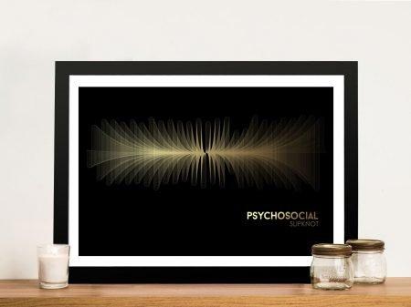 Buy SlipKnot Framed Soundwave Wall Art