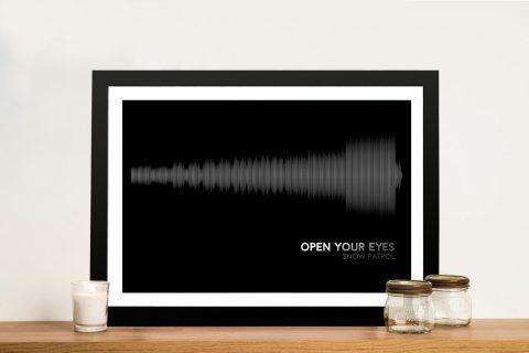 Snow Patrol Soundwave Framed Wall Art