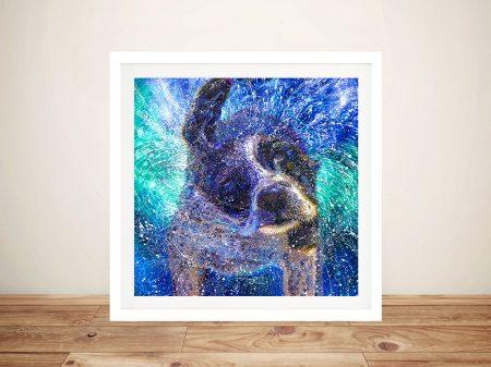 Buy Spinning Spaniel Iris Scott Canvas Art