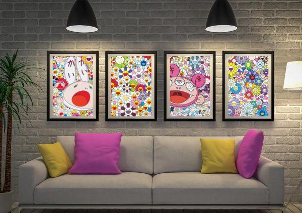 Buy a 4-Panel Set of Takashi Murakami Prints