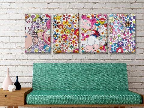 Buy New Day Colourful Split Canvas Wall Art AU