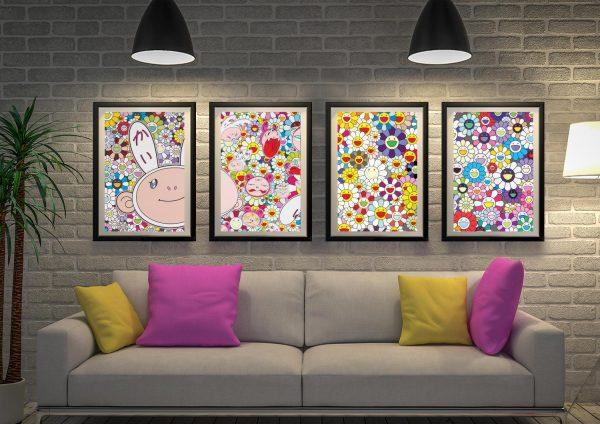 Buy Murakami Four Panel Art Cheap Online