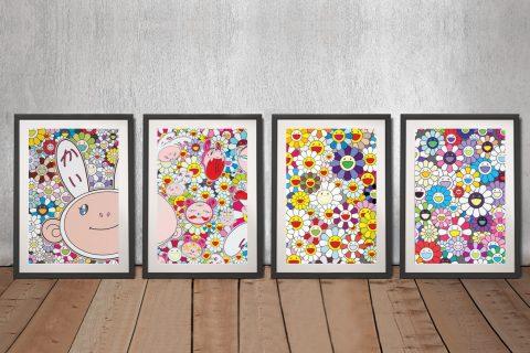 Buy Flower Ball Four Panel Wall Art Set
