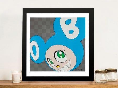 Buy And Then x5 (Aqua Blue) Framed Wall Art
