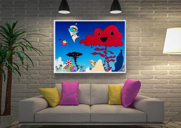 Takashi Murakami Eco Eco Ranger Earth Force Canvas Artwork