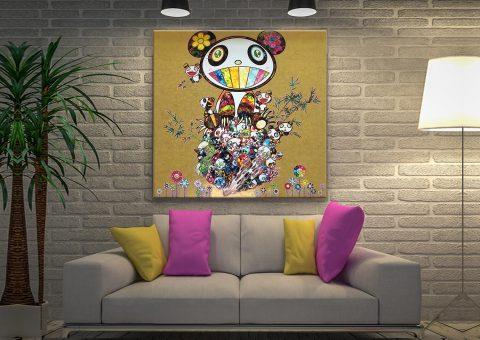 Takashi Murakami Panda Family Canvas Art Australia