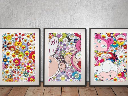 Buy Takashi Murakami Triptych Wall Art