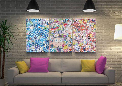 Buy Murakami Triptych Art Gift Ideas AU