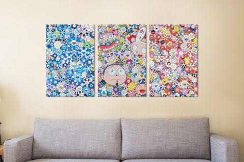 Buy Takashi Murakami Triptych Wall Art Online