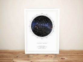 Buy Custom Star Map Artwork Sydney Australia