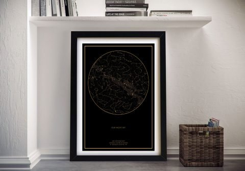Personalised star map Wall Art