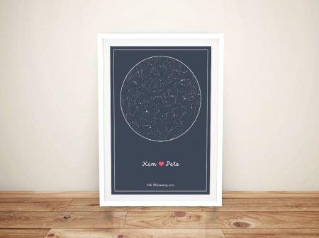 Custom Star Charts of the Night Sky