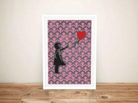 Banksy Balloon Girl Pink Fleur-de-lys Art