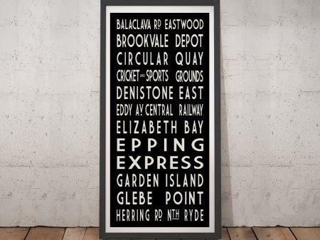 Buy a Glebe Point Vintage Tram Sign