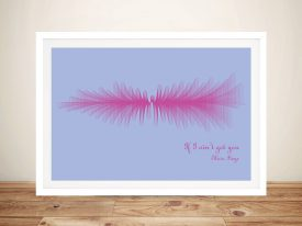 If I ain't got you by Alicia Keys Soundwave Framed Wall Art