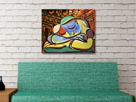 Jeune Fille Endormie Canvas Artwork