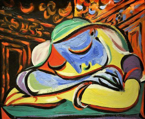 Jeune Fille Endormie Picasso Canvas