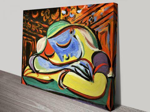 Jeune Fille Endormie Picasso Canvas Print