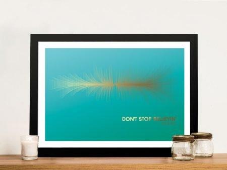 Buy Don't Stop Believing Soundwave Canvas Print
