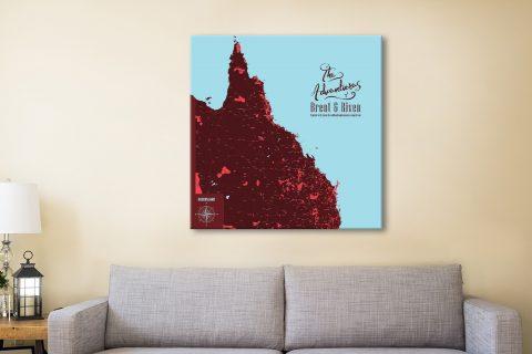 Queensland Pushpin travel Map Canvas Artwork