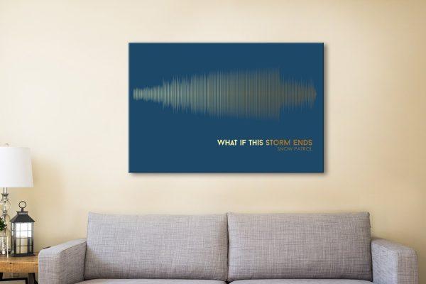 Buy Navy & Gold Soundwave Wall Art AU