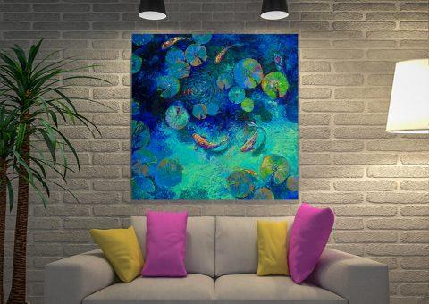 Taiwanese Blue Iris Scot Canvas Art