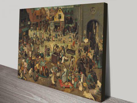 Buy Pieter Bruegel Classic Canvas Prints Online