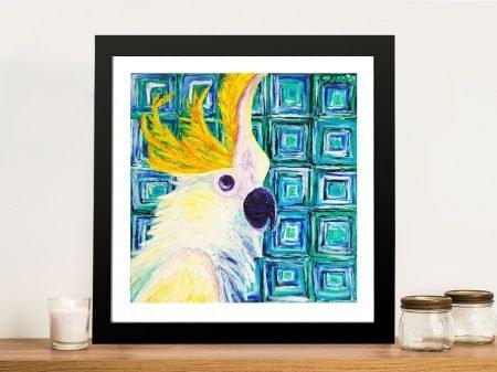 Buy Peek-a-boo Colourful Bird Wall Art