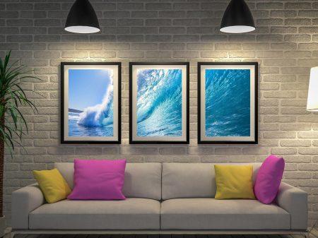 Buy Surf Haze a Canvas Triptych Set of Prints