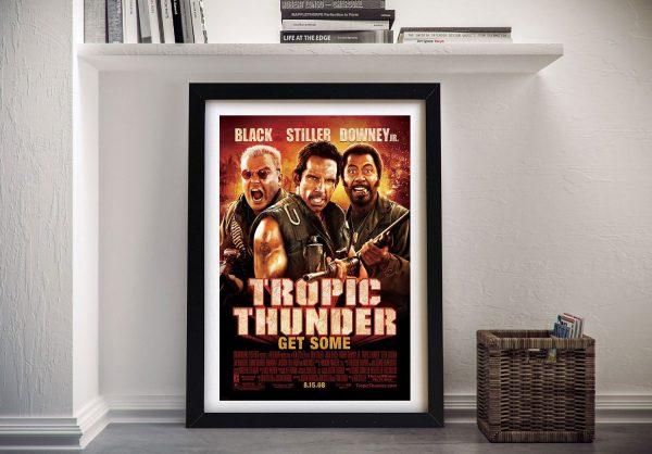 Buy a Tropic Thunder Film Poster Framed Print