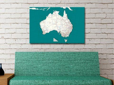 Buy Custom Map Wall Art of Australia