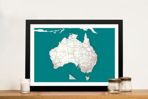 Buy Personalised Australia Pinboard Map