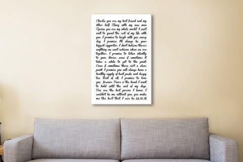 Wedding Vows Word Artwork