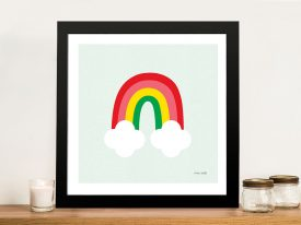 Buy Bright Rainbow Kids Art by Ann Kelle