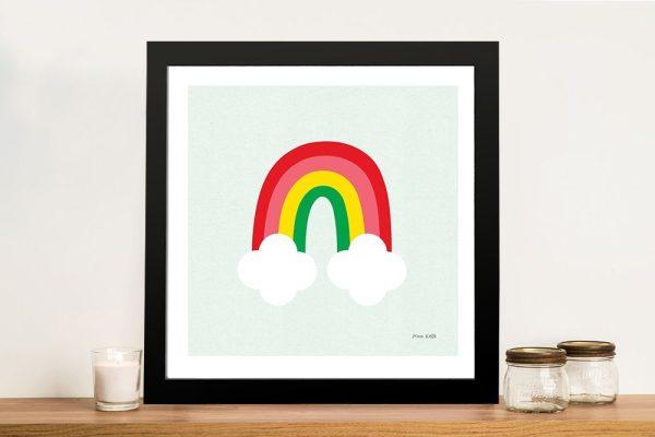 Buy Bright Rainbow Kids Art by Ann Kelle