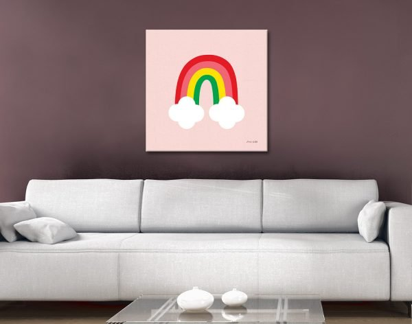 Buy Bright Rainbow Kid Art Nursery Decor Ideas