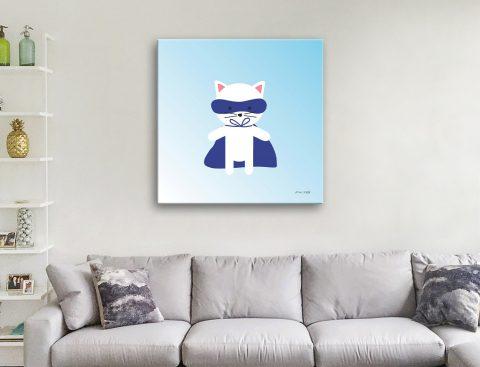 Buy Cat Super Hero Unique Kids Prints Online